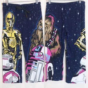 Star Wars pajama bottoms C-3PO, R2-D2 and Chewie S